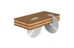 Excellent cut on plywood.- product picture