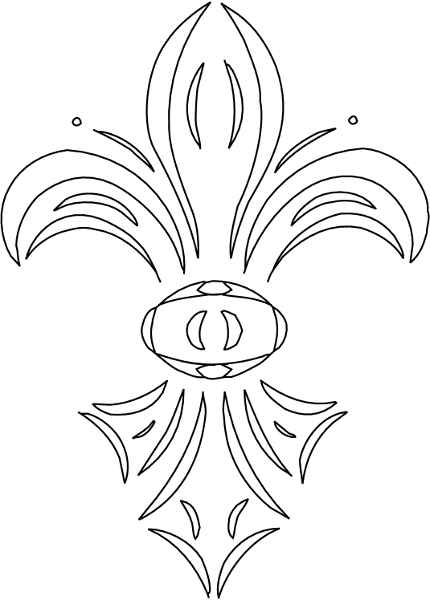 fleur de lys coloring pages - photo#15