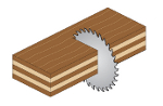 Excellent crosscut on plywood.- product picture